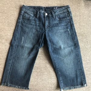 SEVEN7 Dark Denim Bermuda Shorts